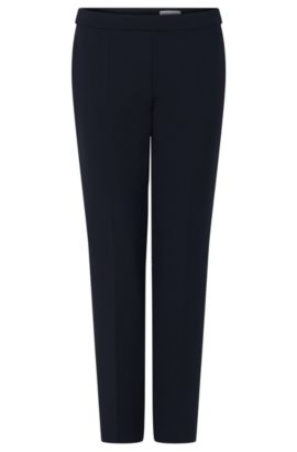 'Tiluna Side Zip' | Stretch Cotton Crepe Dress Pants, Open Blue