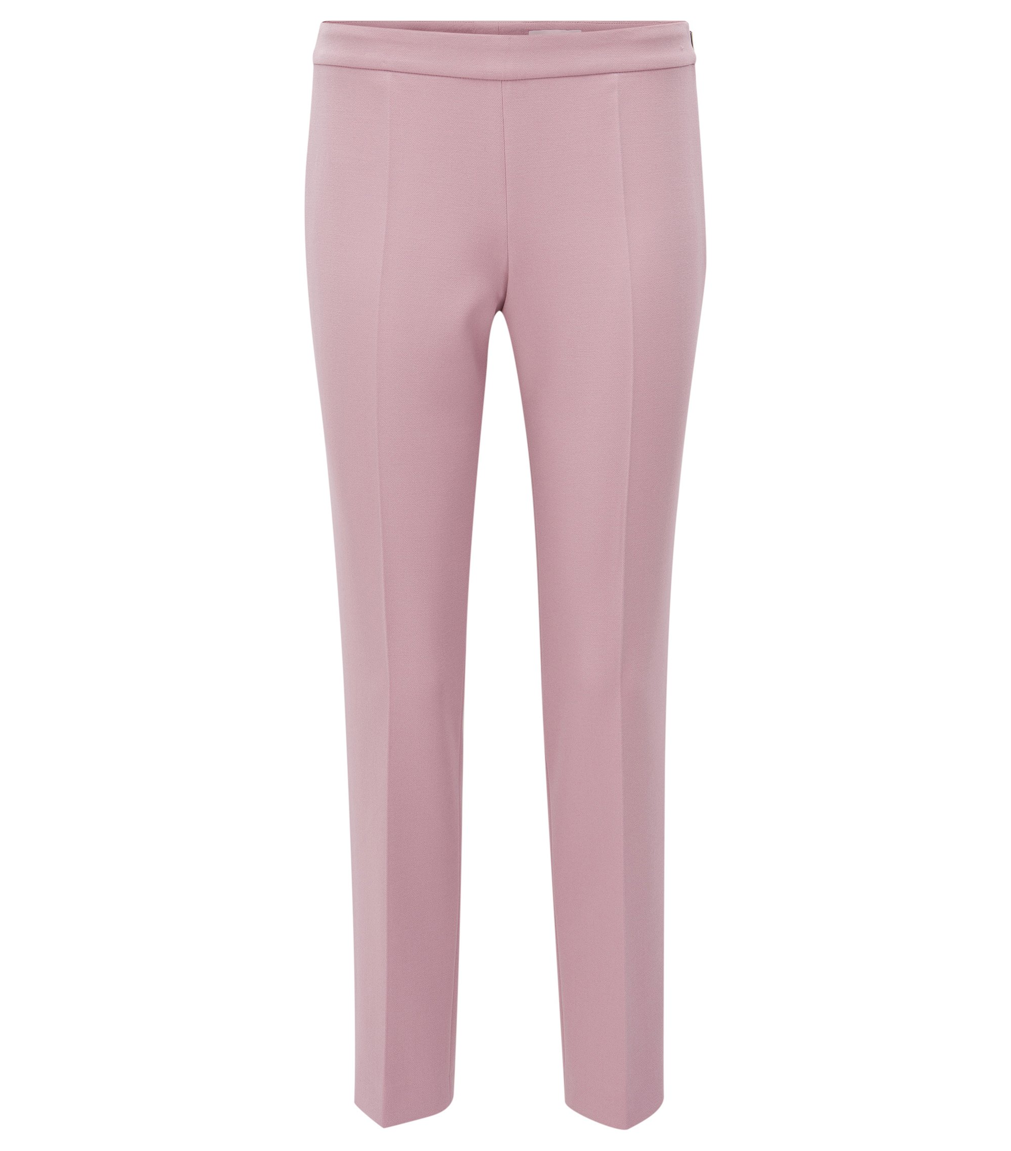 Stretch Cotton Crepe Dress Pant | Tiluna Side Zip, Purple