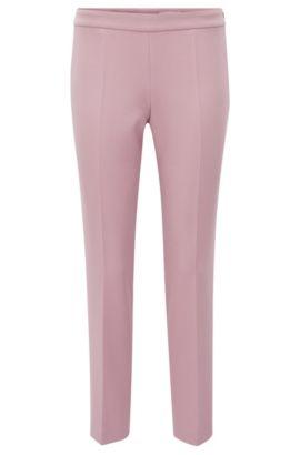 Stretch Cotton Crepe Dress Pant | Tiluna Side Zip, Purple
