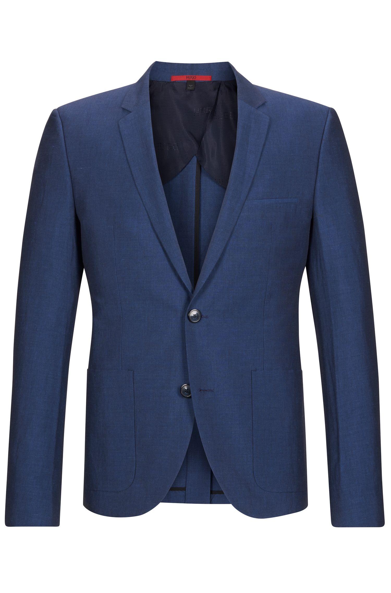 Linen Cotton Sport Coat, Slim Fit | Alesono