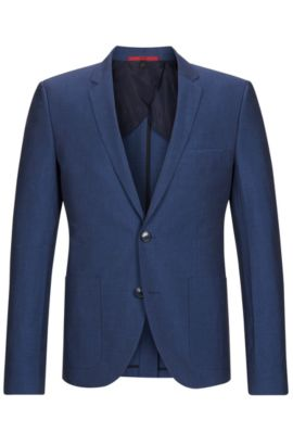 'Alesono' | Slim Fit, Linen Cotton Sport Coat, Blue
