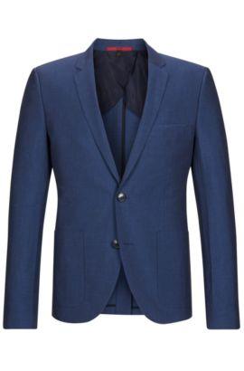 Linen Cotton Sport Coat, Slim Fit | Alesono, Blue