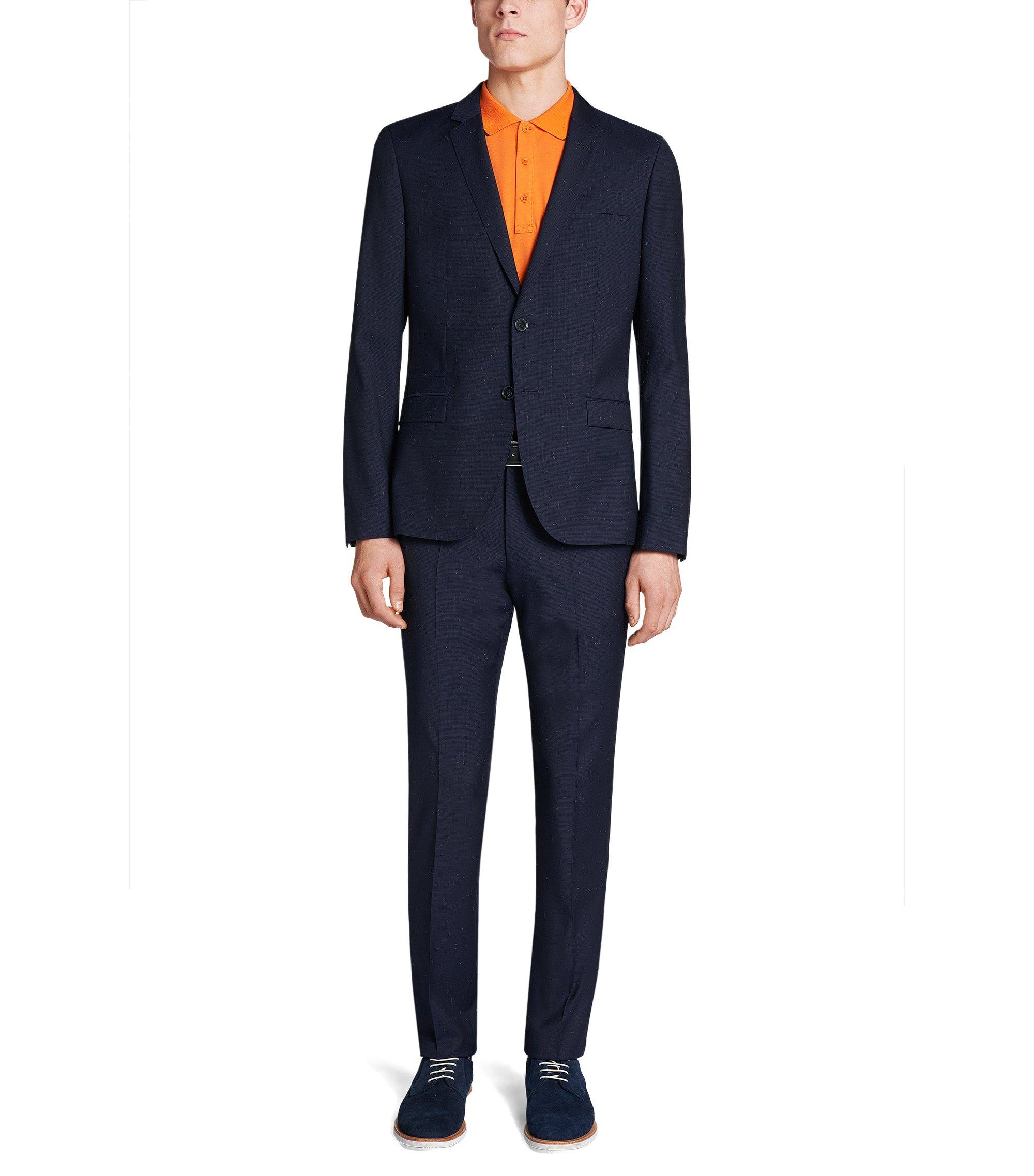 Virgin Wool Suit, Extra Slim Fit | Arti/Heibo, Dark Blue