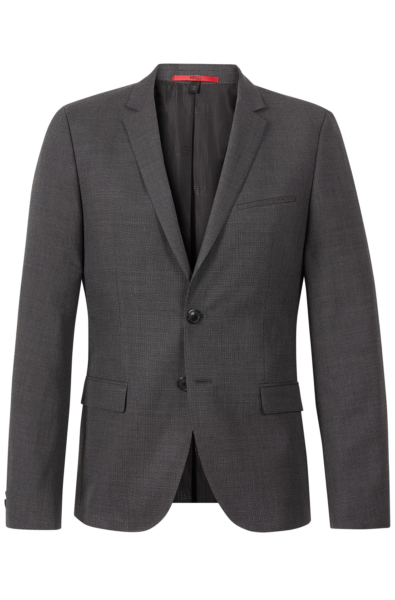 Virgin Wool Cotton Nailhead Sport Coat, Slim Fit | Arti