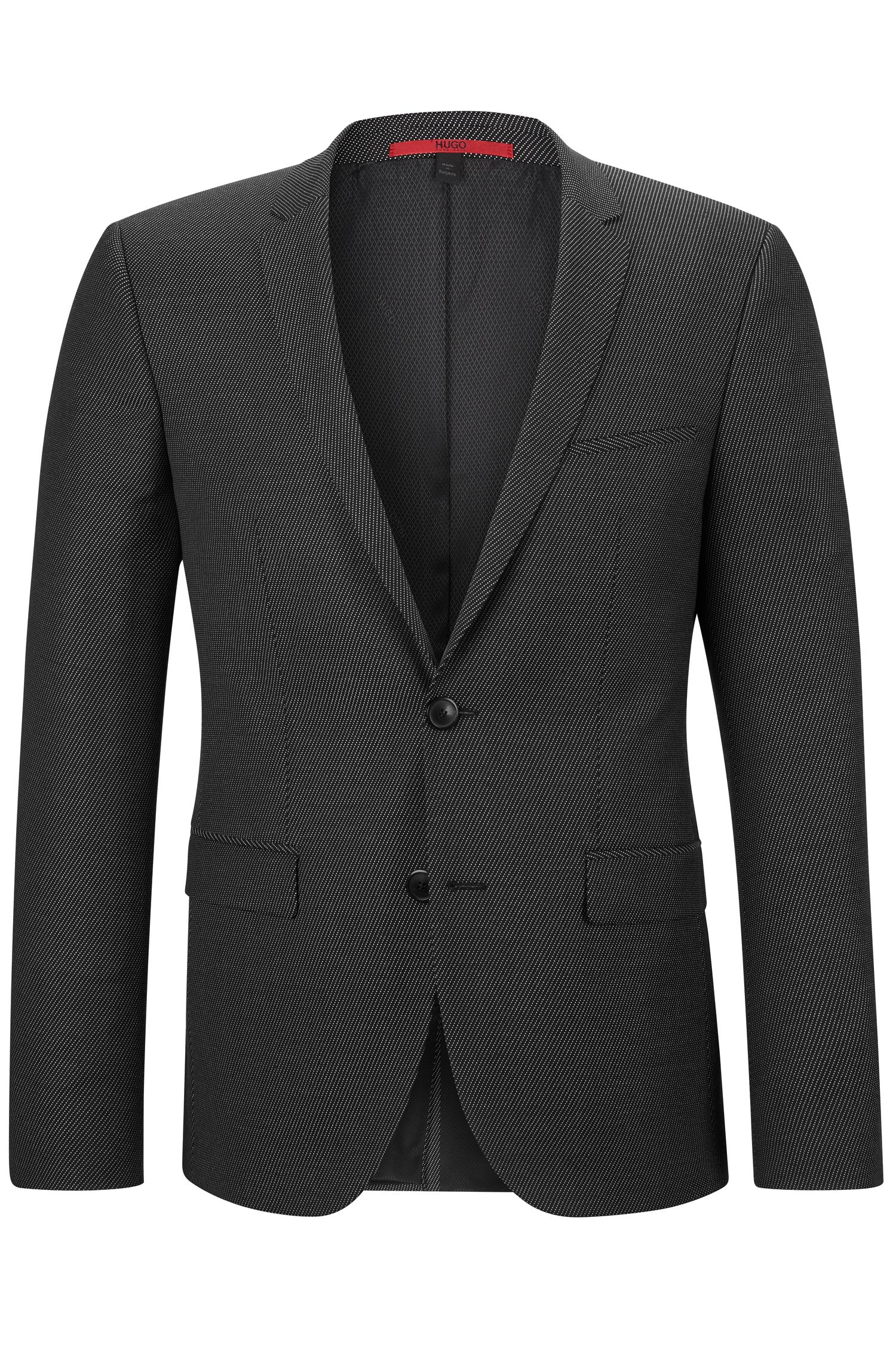 Virgin Wool Blend Sport Coat, Extra Slim Fit | Adris