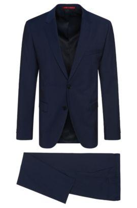 Virgin Wool Suit, Slim Fit | C-Jeffrey/C-Simmons, Blue
