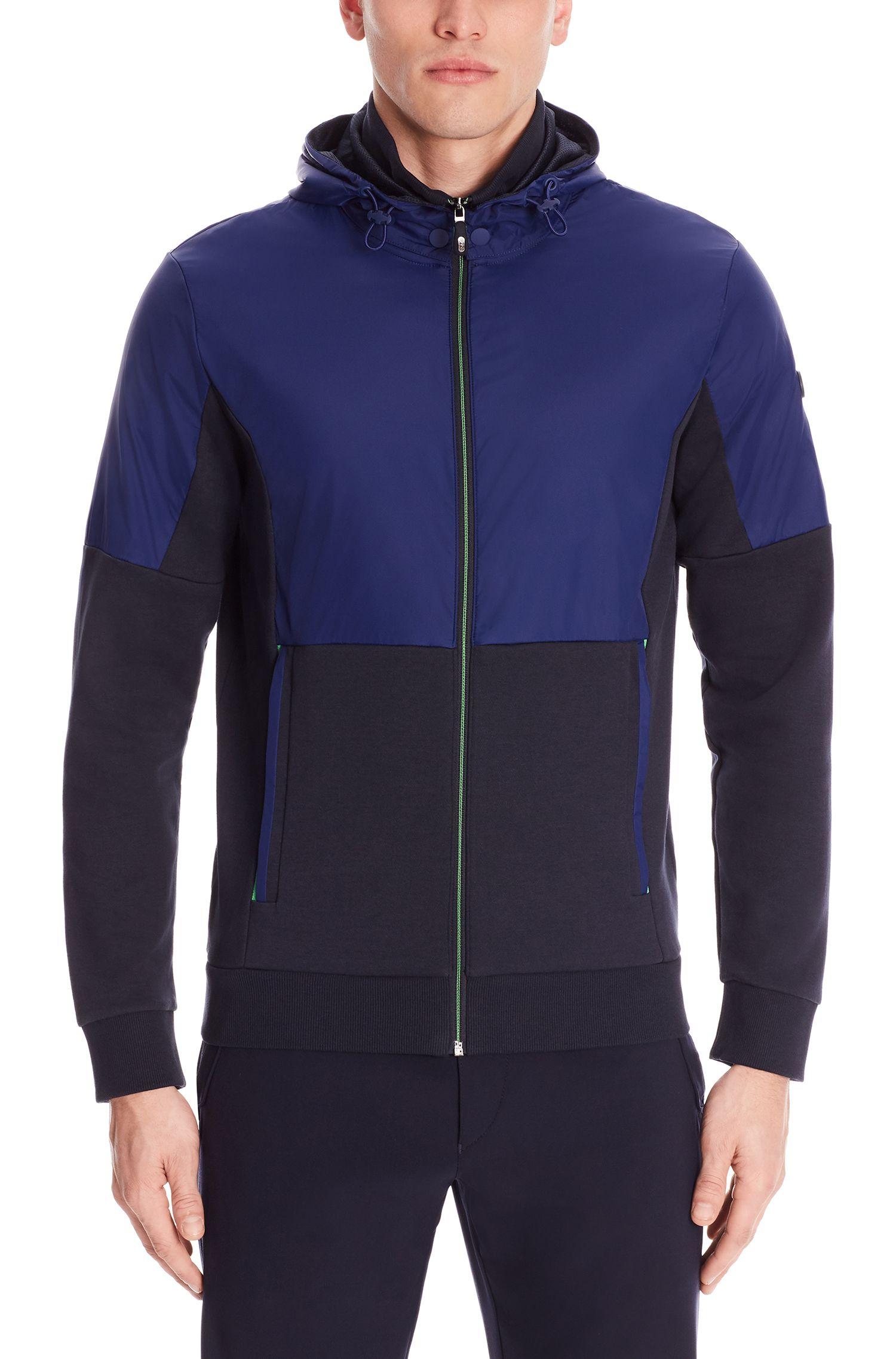Cotton Nylon Hooded Zip Jacket | Skibo