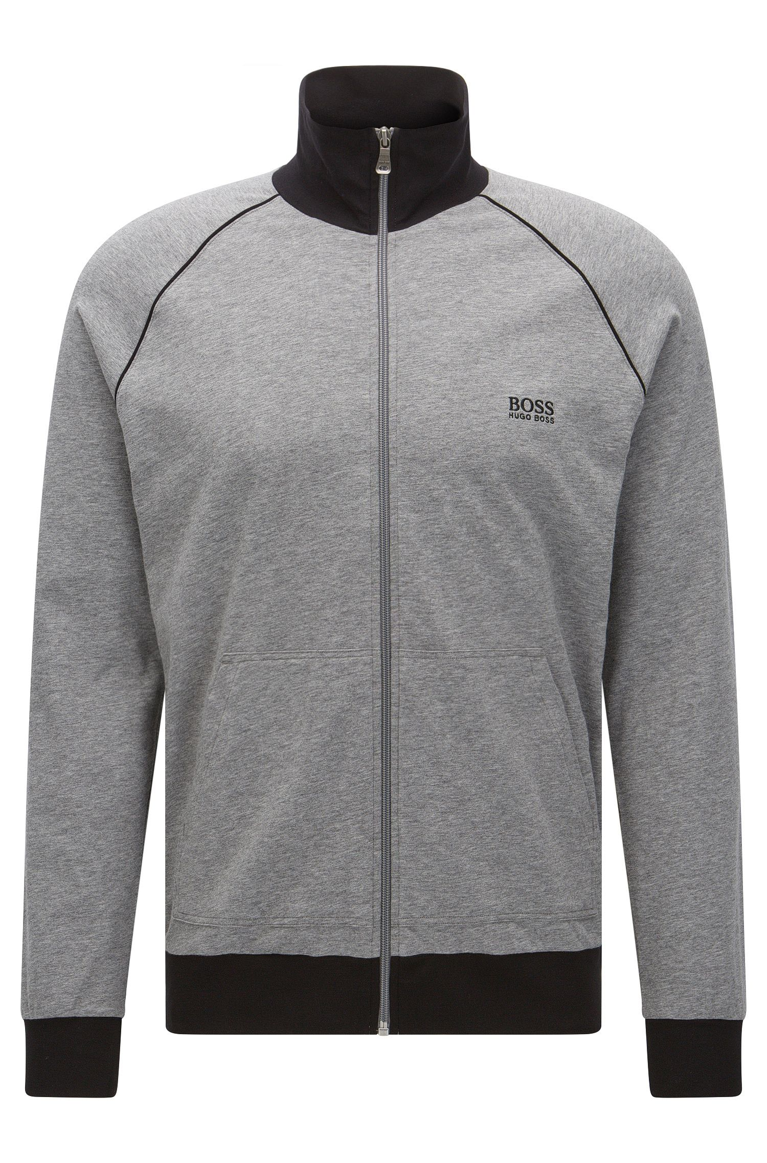 'Jacket Zip'   Stretch Cotton Zip Jersey Jacket