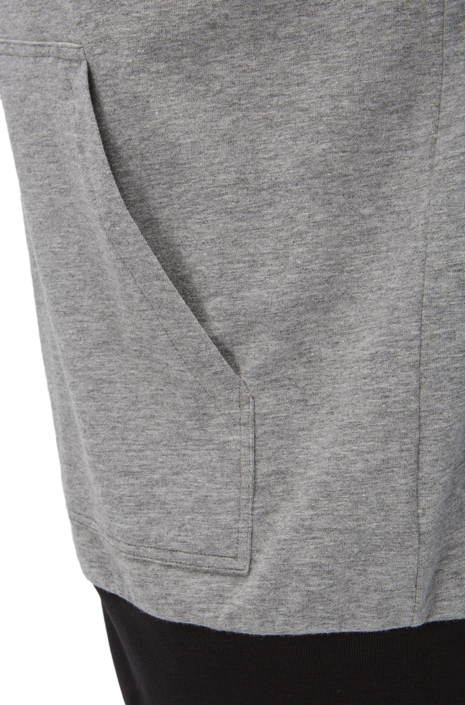 Stretch Cotton Zip Jersey Jacket | Jacket Zip, Grey