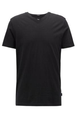 Mercerized Cotton T-Shirt | Tilson, Black