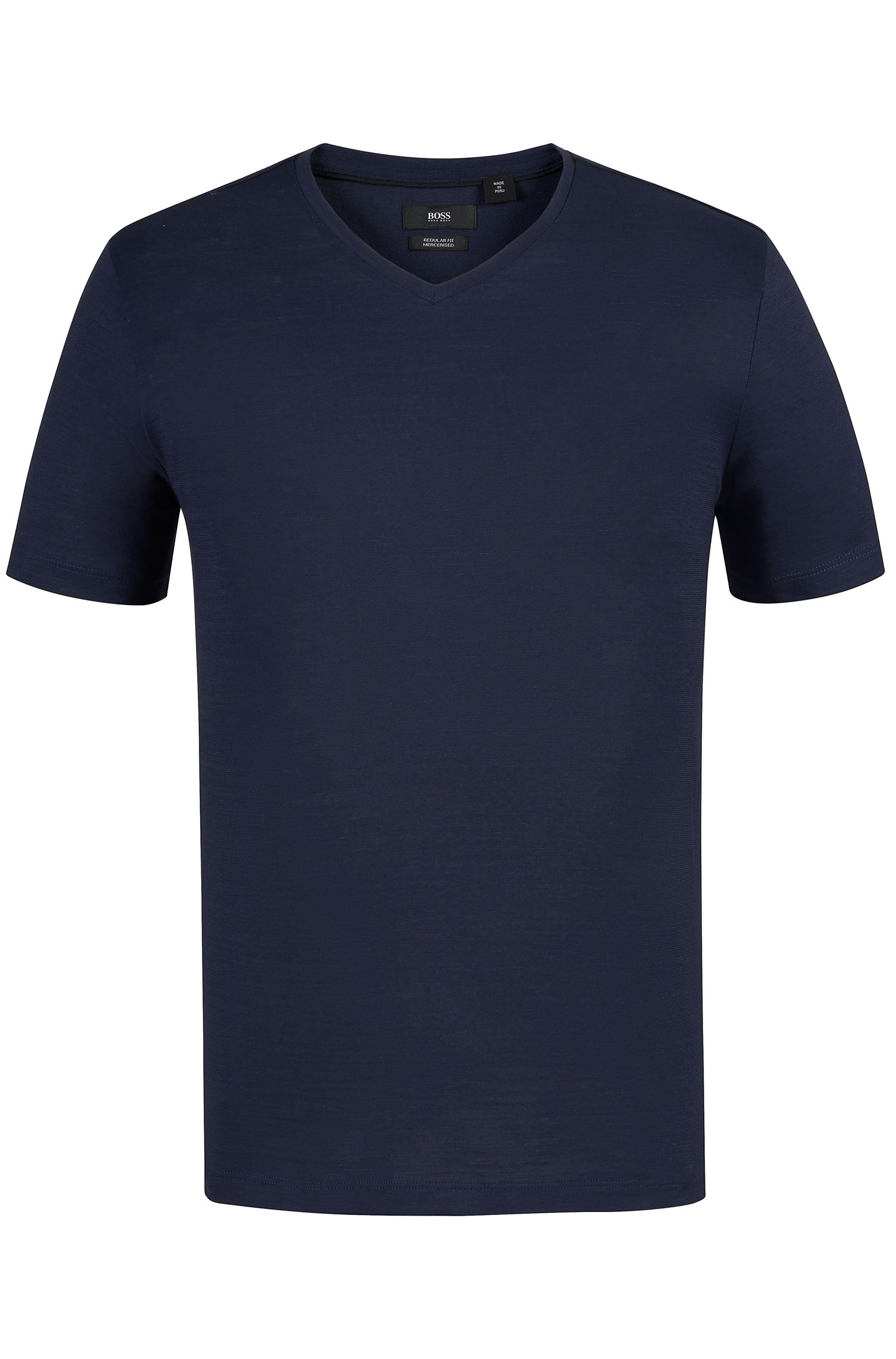 Regular-fit T-shirt in mercerized cotton