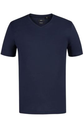 'Tilson' | Mercerized Cotton T-Shirt, Dark Blue