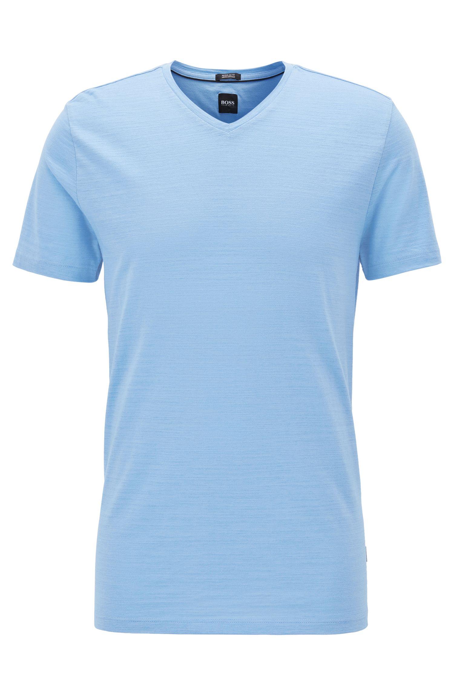 Regular-fit T-shirt in mercerized cotton