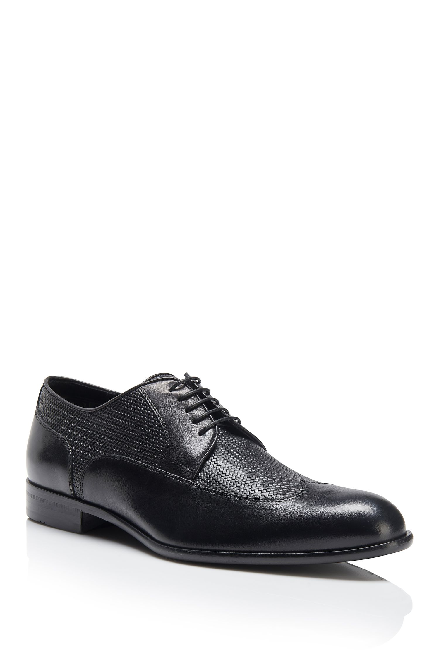 Italian Leather Wingtip Derby Dress Shoe | Maderb