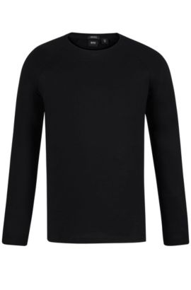 Cotton Long-Sleeved T-Shirt | Terell, Black