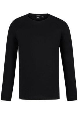 Cotton Long-Sleeved T-Shirt | Terell, Black