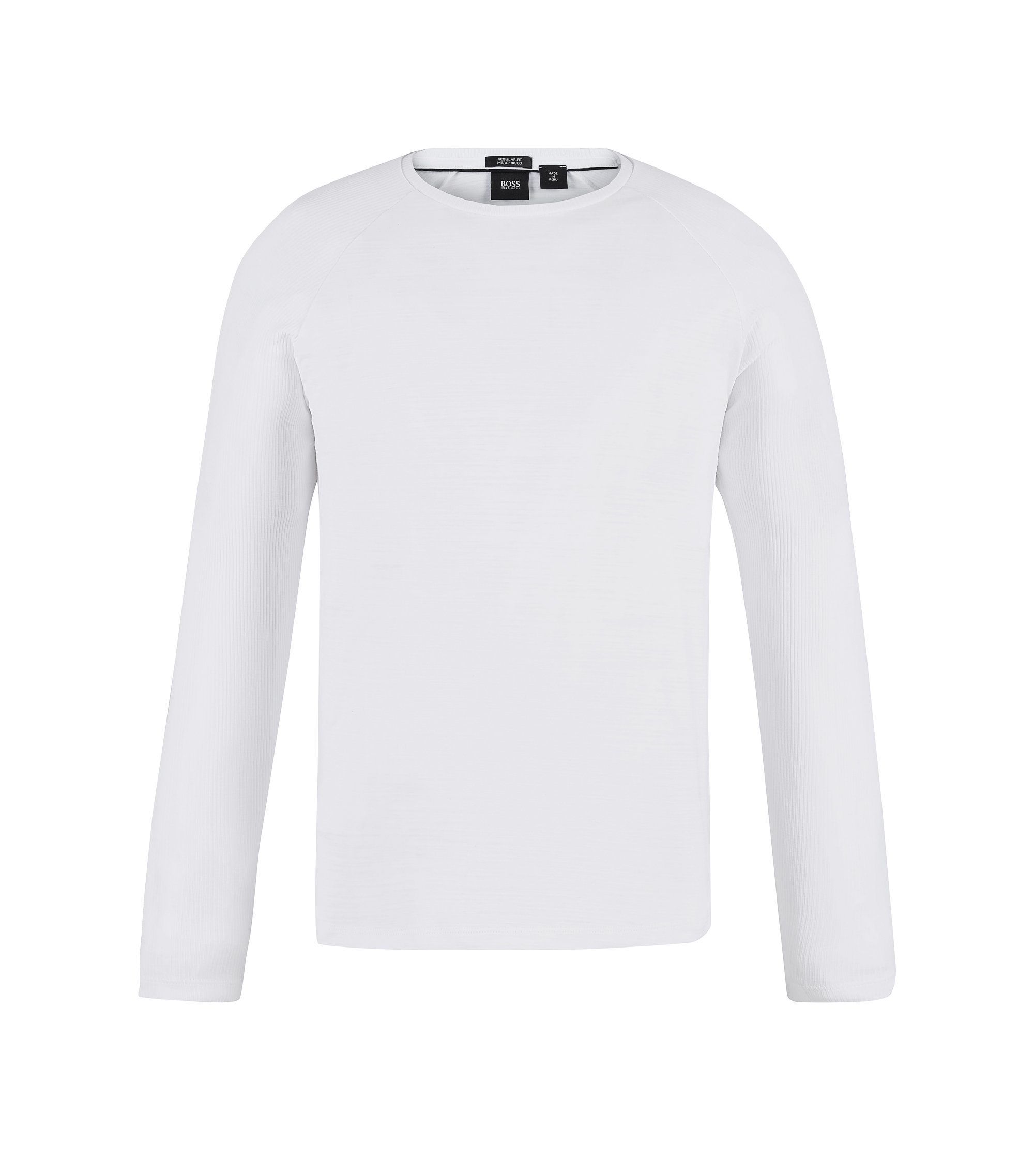 Cotton Long-Sleeved T-Shirt | Terell, White