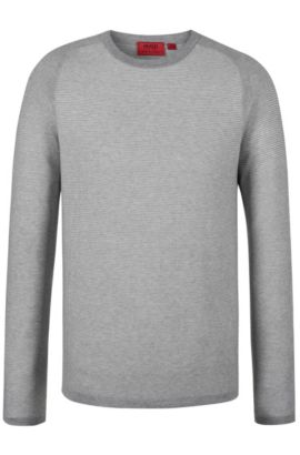 'Sraglan' | Cotton Silk Cashmere Sweater, Open Grey