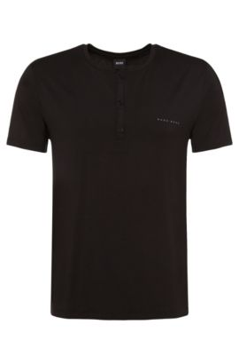 Stretch Modal Henley | Jersey Shirt BP SS, Black