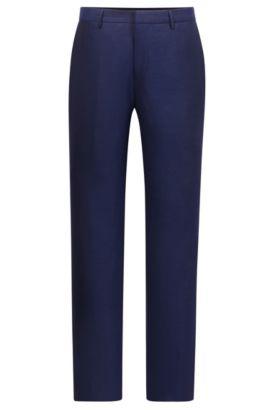'T-Gleeve'   Slim Fit, Italian Virgin Wool Dress Pants, Dark Blue