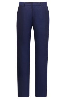 'T-Gleeve' | Slim Fit, Italian Virgin Wool Dress Pants, Dark Blue