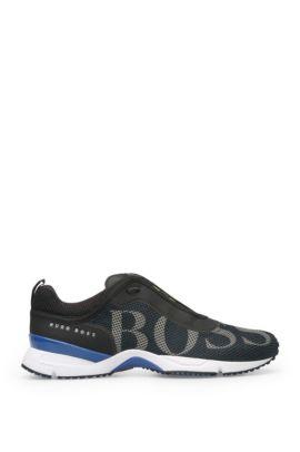 Mesh Logo Sneaker   Velox, Dark Blue