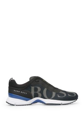 Mesh Logo Sneaker | Velox, Dark Blue