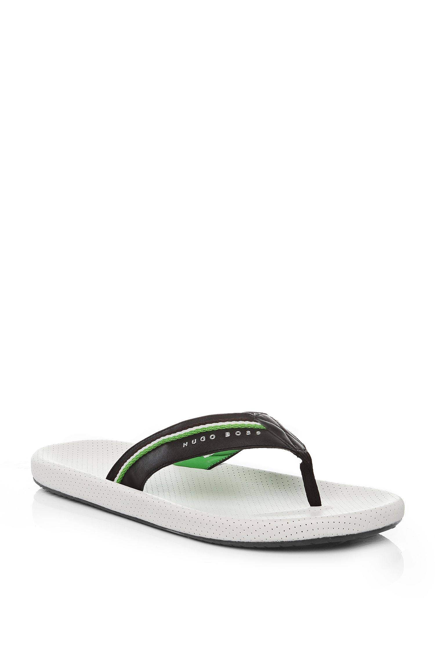 Textile Thong Sandal | Shoreline Fresh, White