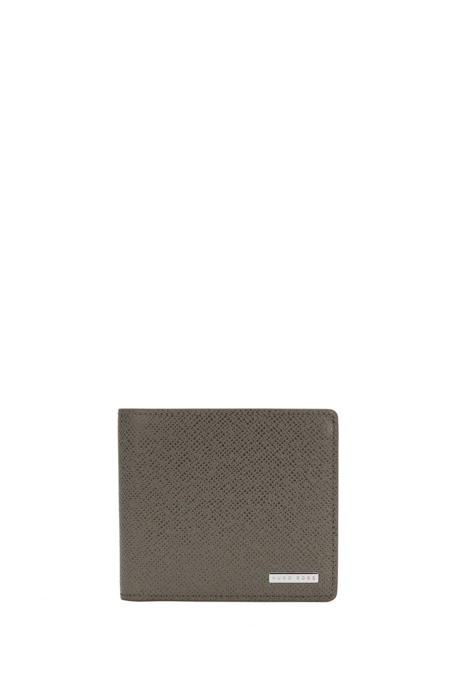 Calfskin Pebbled Wallet | Signature Coin