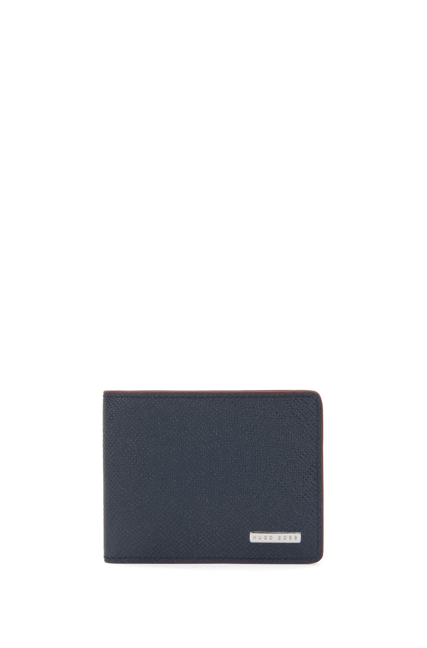 Signature Collection wallet in palmellato leather, Dark Blue