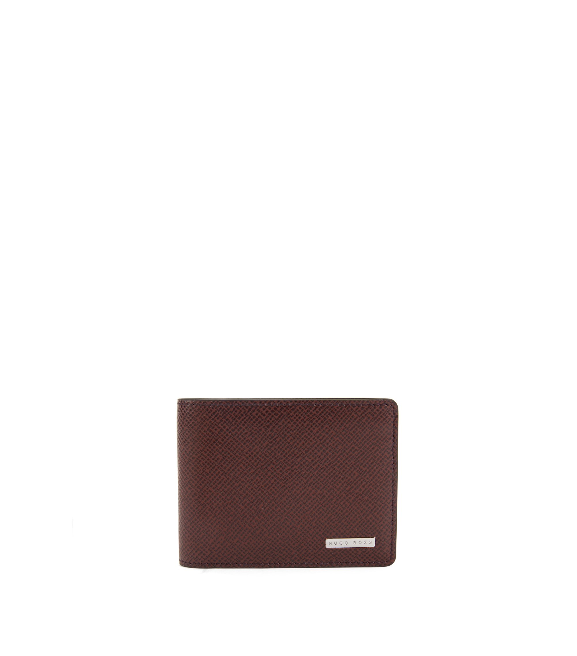 Signature Collection wallet in palmellato leather, Dark Red