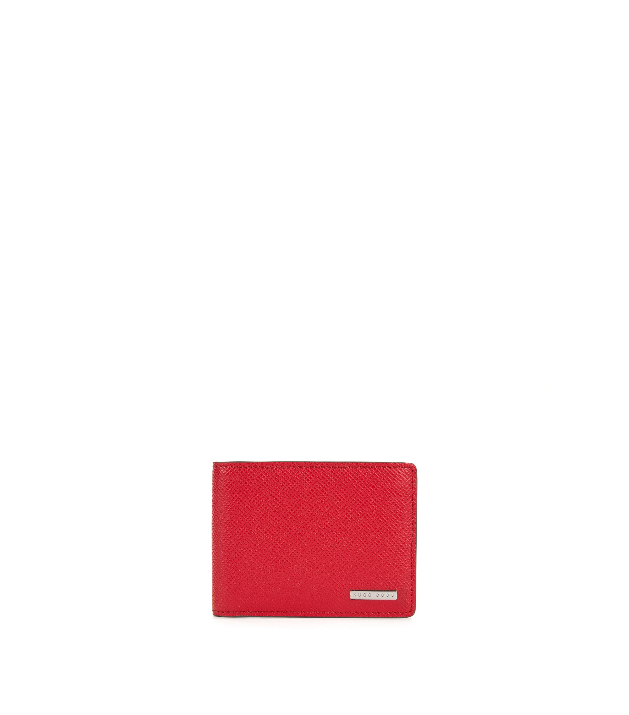 Calfskin Textured Wallet | Signature CC, Red