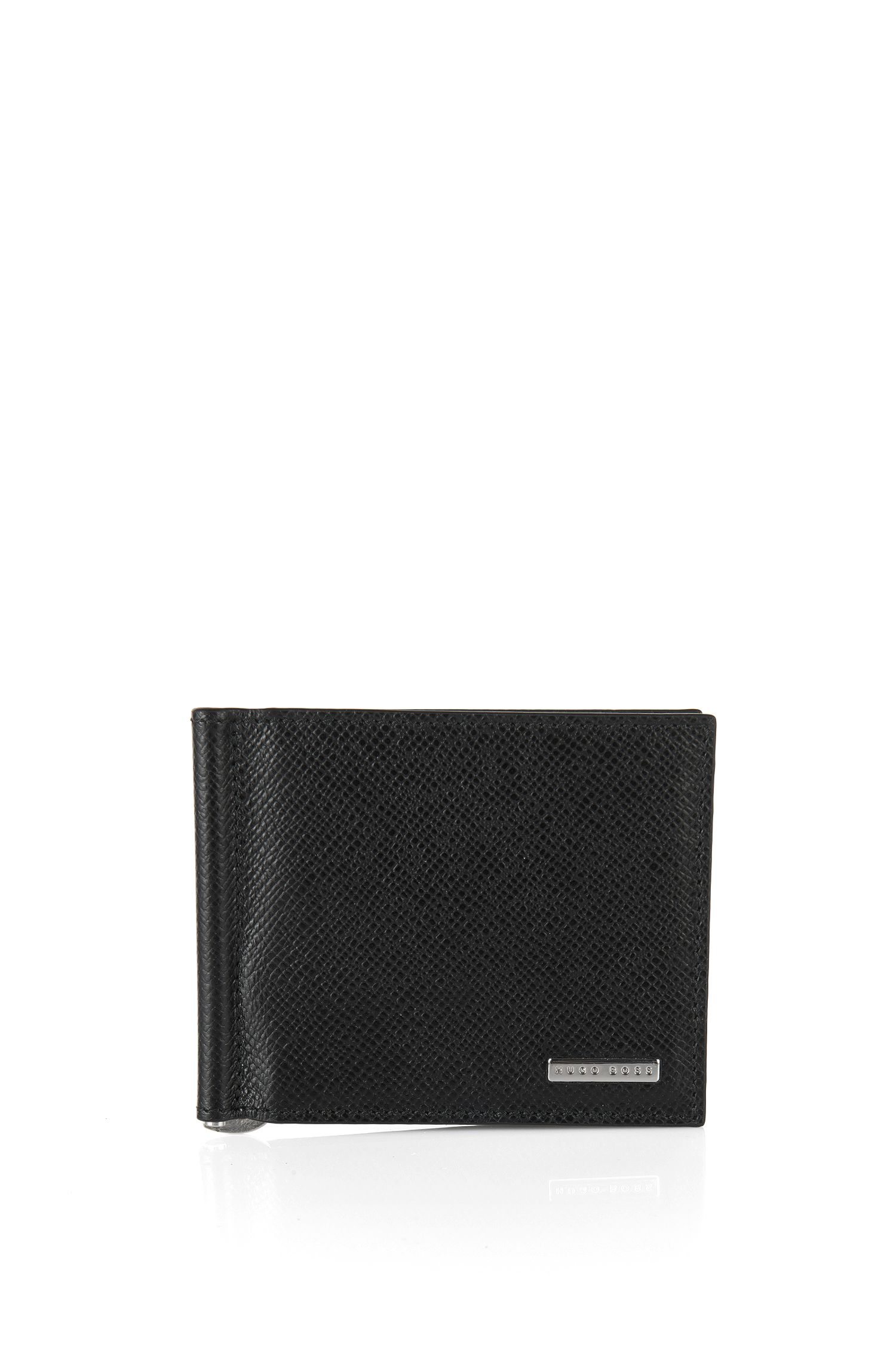 'Signature Clip' | Calfskin Printed Card Case, Money Clip