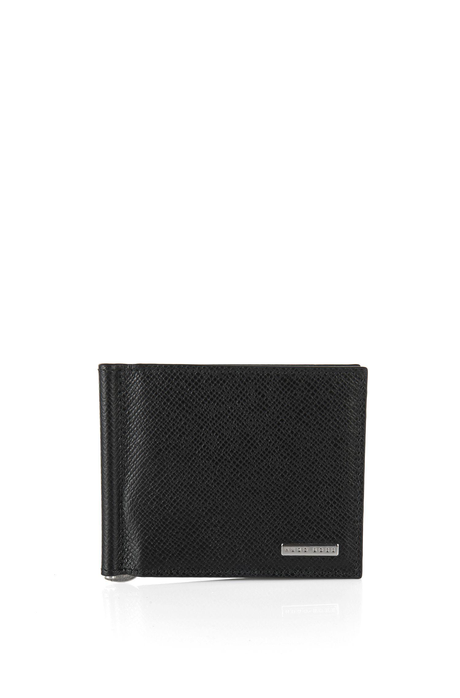 'Signature Clip'   Calfskin Printed Card Case, Money Clip
