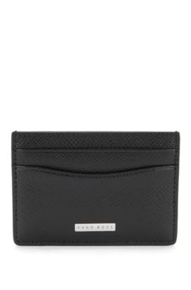 Calfskin Card Case | Signature S Card, Black