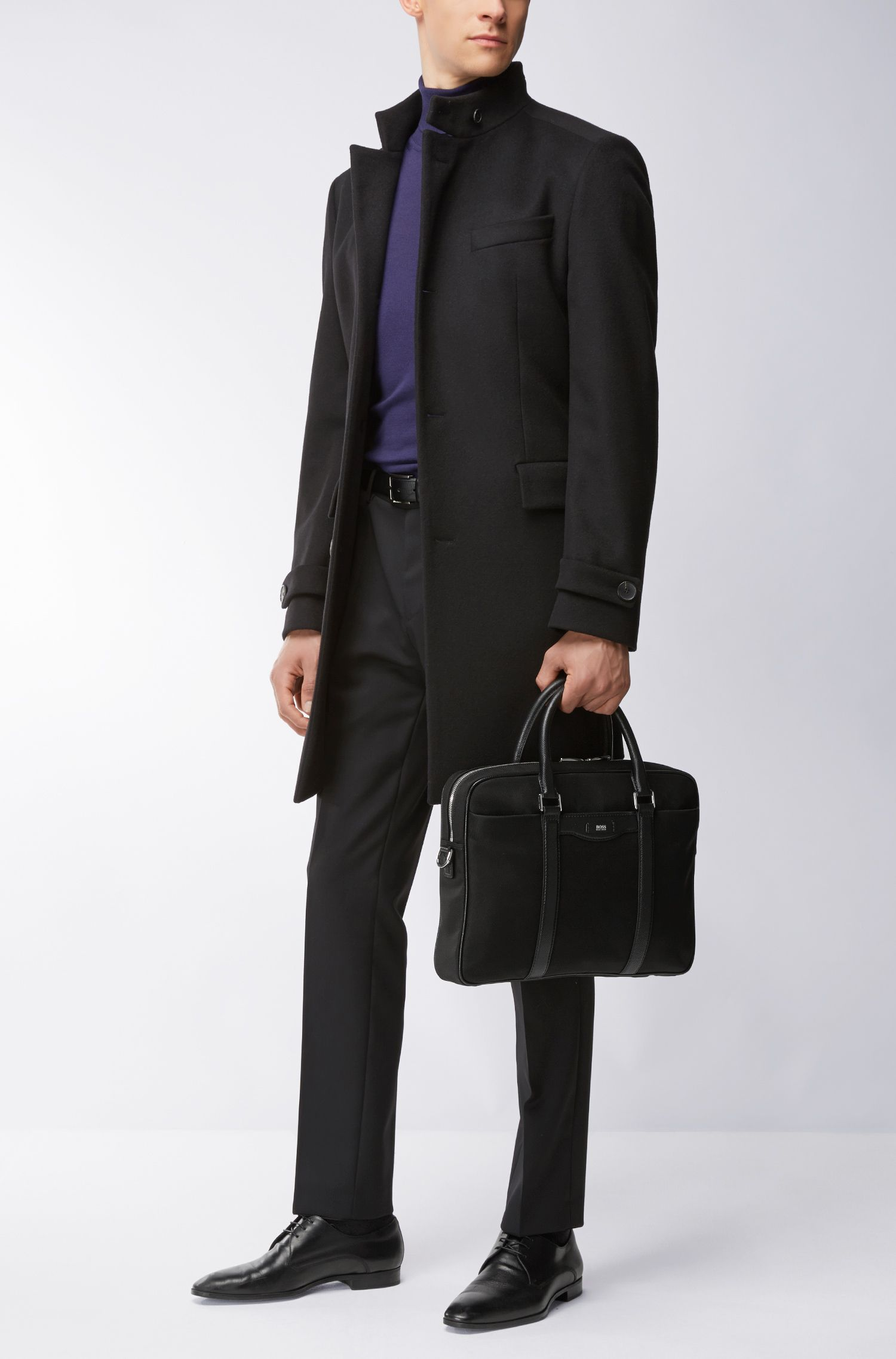 Nylon Blend Workbag | Signature L S Doc, Black