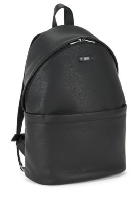 Leather Backpack | Traveller Backpack, Black