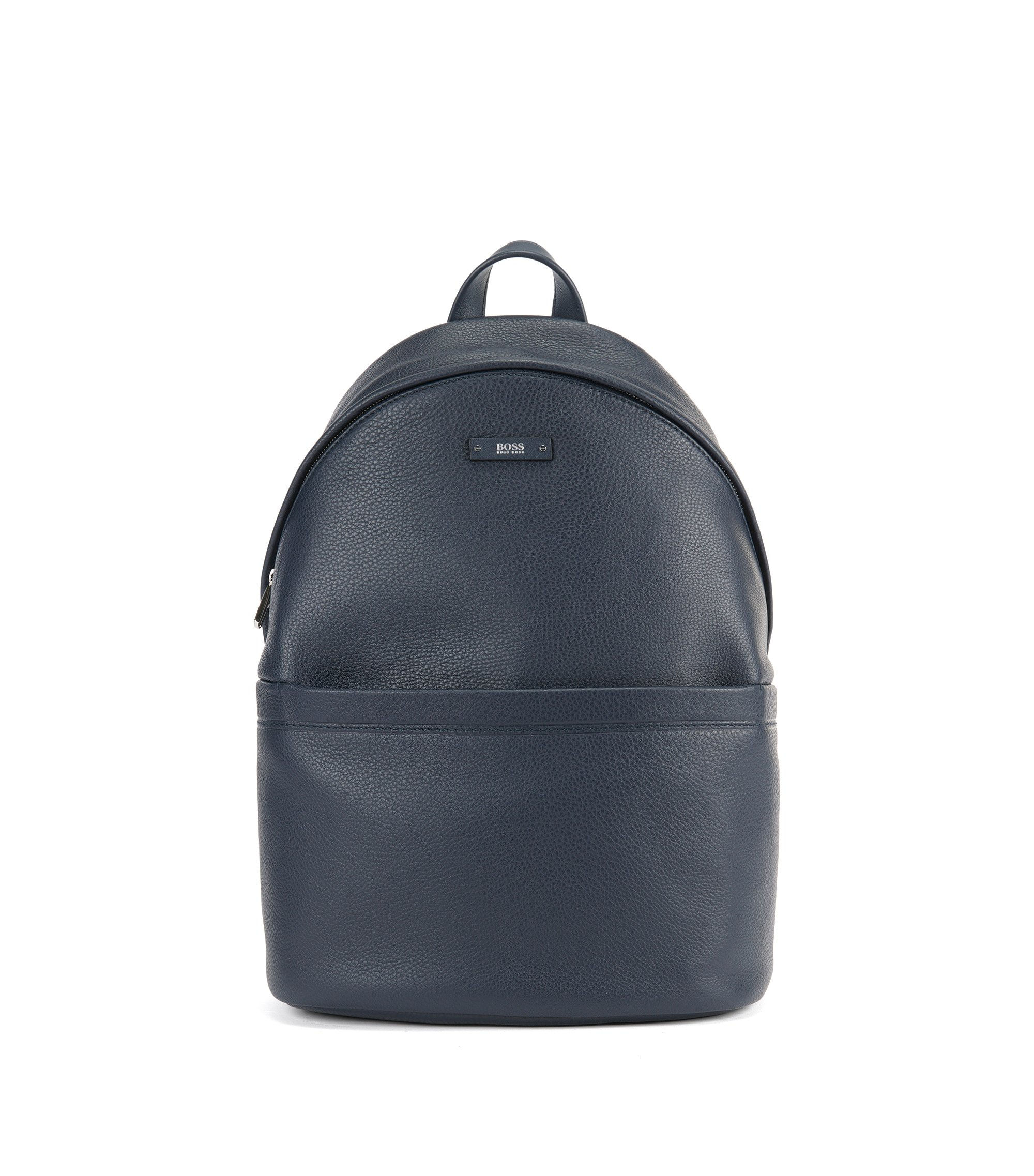 Leather Backpack | Traveller Backpack, Dark Blue