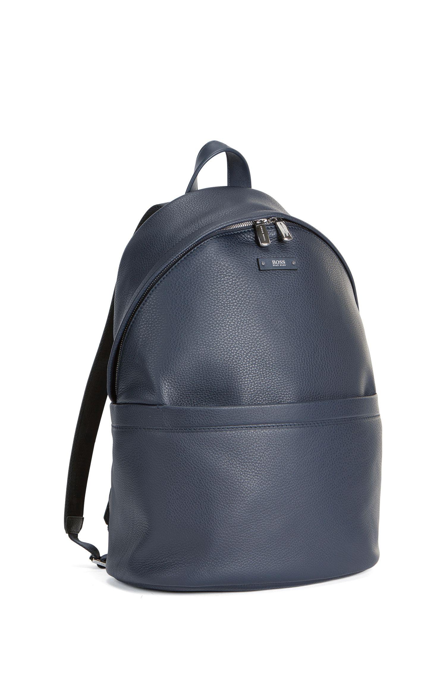 Leather Backpack | Traveller Backpack, Dark Blue