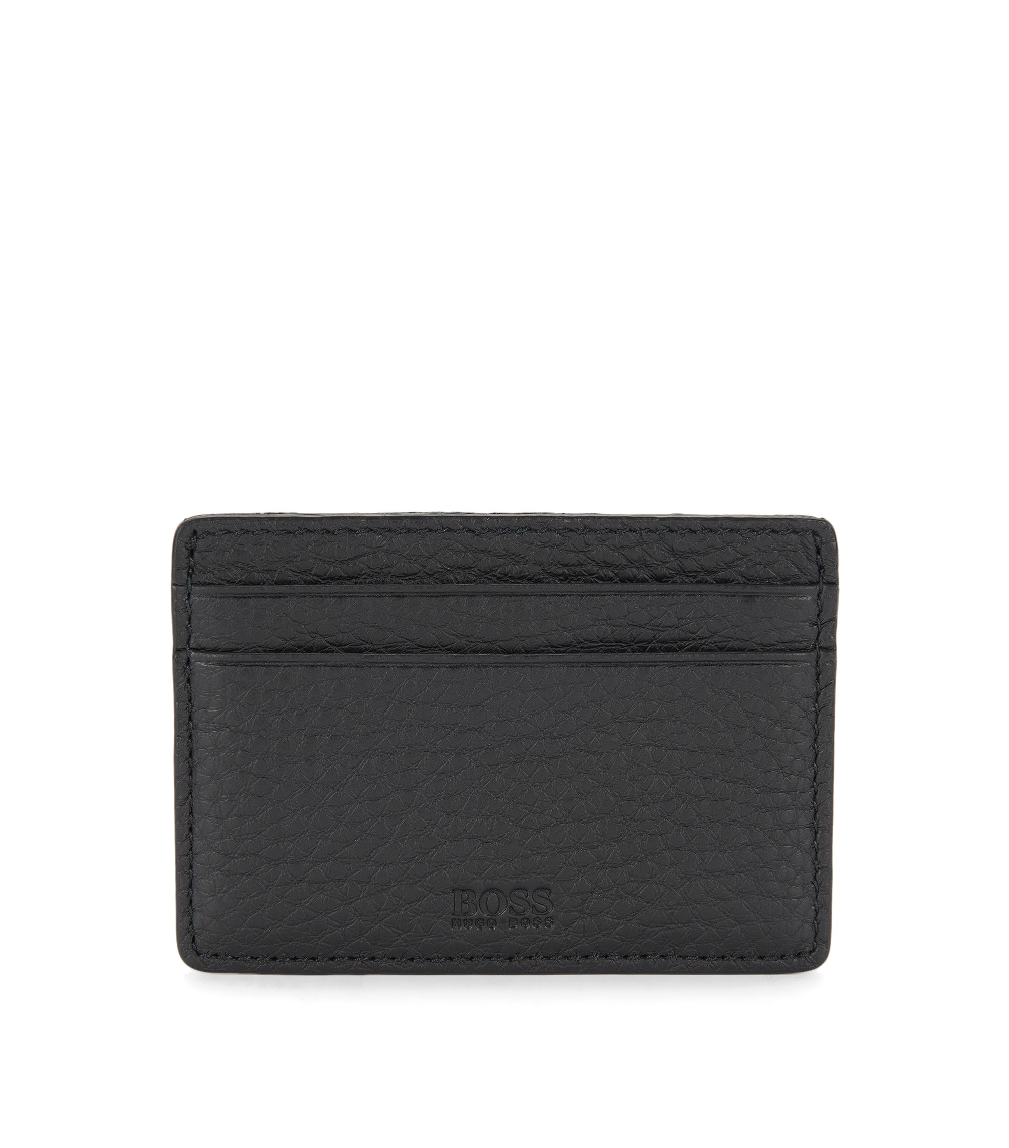 Leather Card Holder | Traveller S Card, Black
