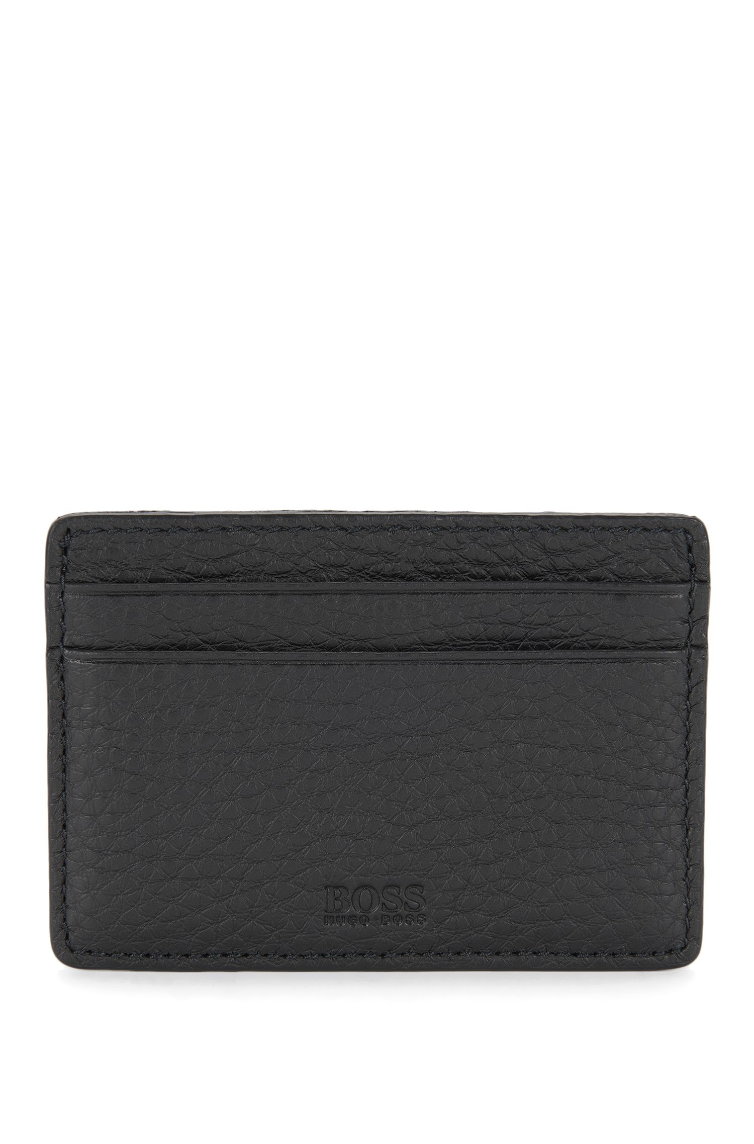 Leather Card Holder | Traveller S Card, Black