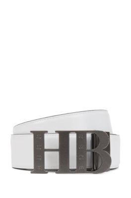 Reversible Leather Belt | Balwinno, Black