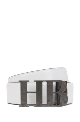 Reversible Leather Belt | Balwinno, Black