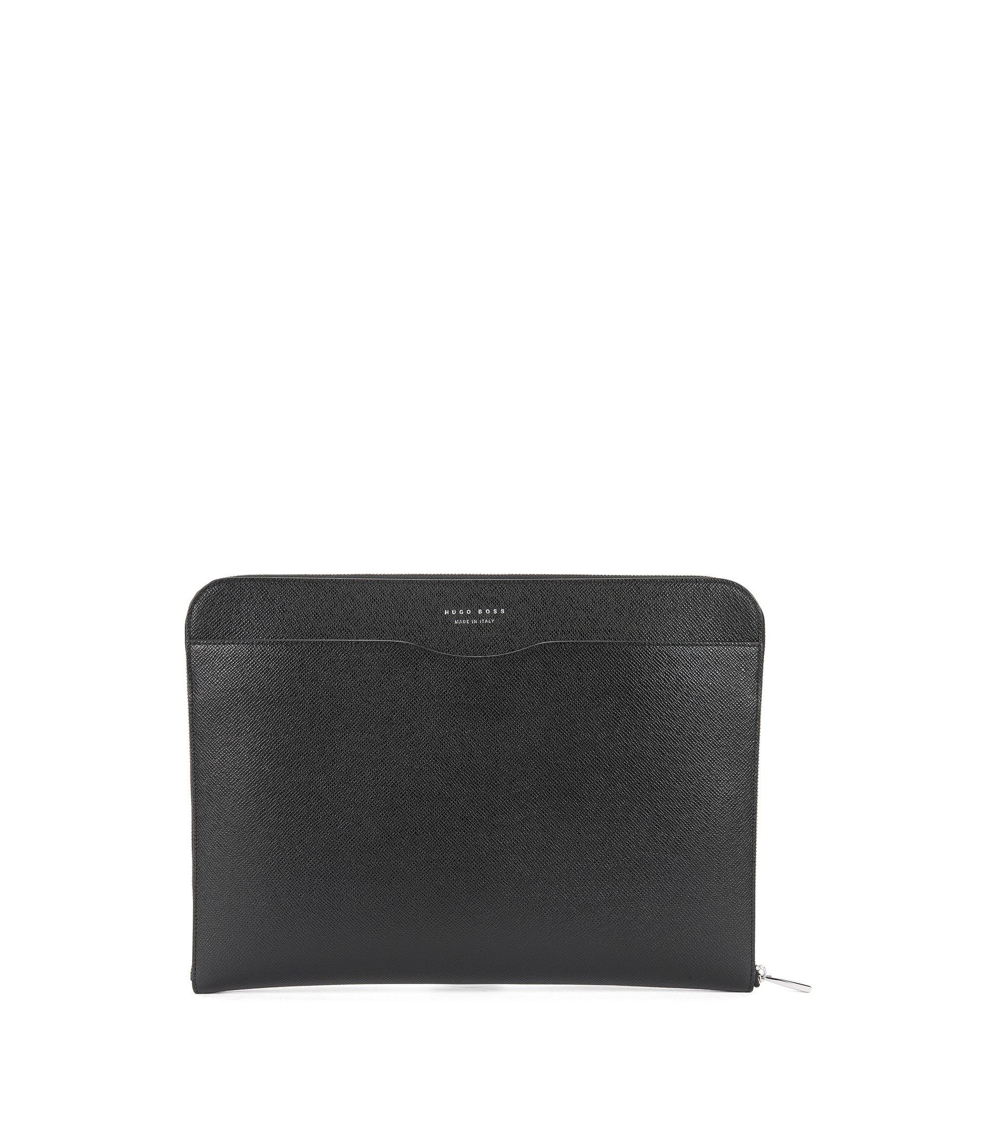 Italian Calfskin Portfolio Case   Signature Portfolio, Black