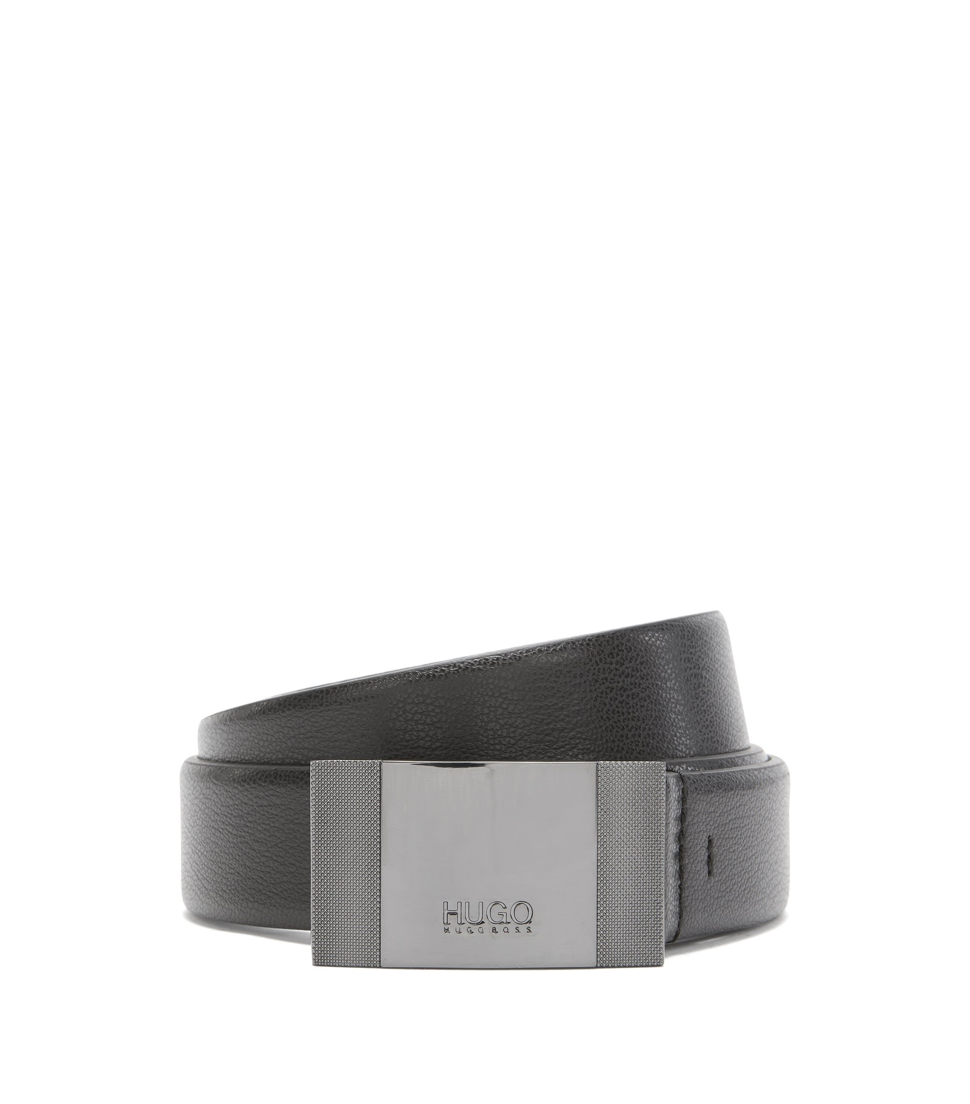 Textured Leather Belt | C-Baxtero, Black