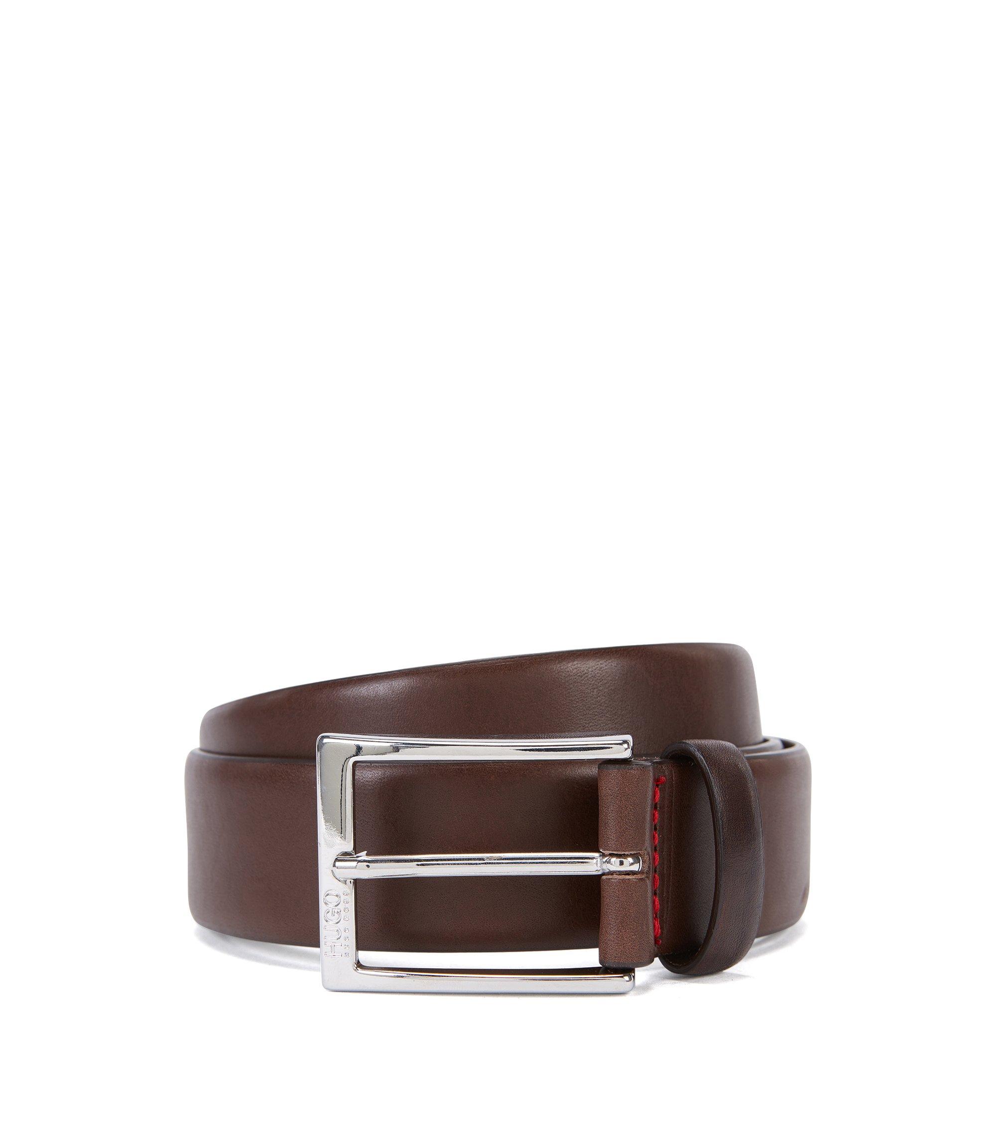 Leather Belt | C-Gerron N, Dark Brown