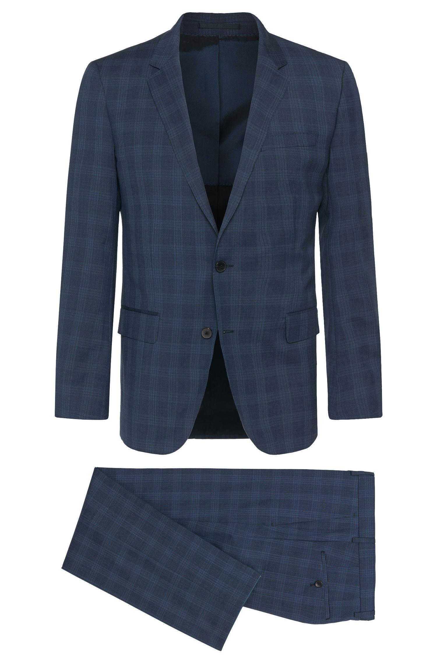 Virgin Wool Suit, Slim Fit   Huge/Genius