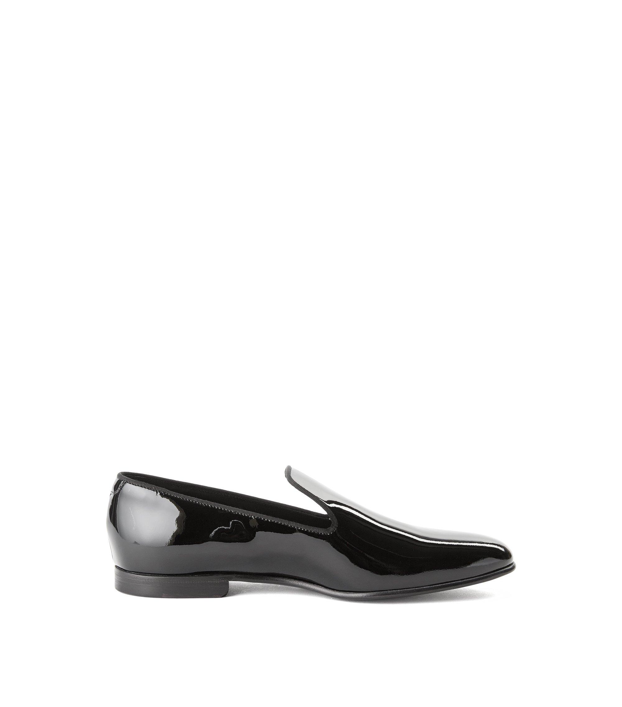 Italian Calfskin Patent Loafer | Loafer P, Black