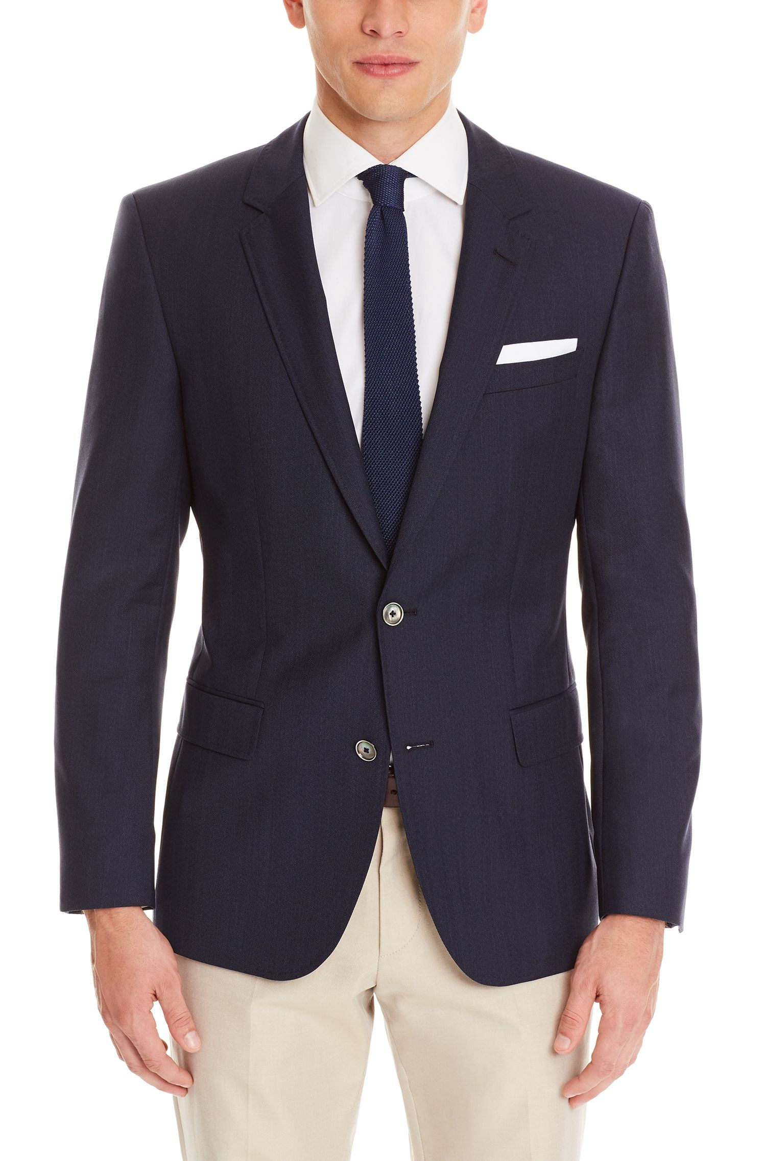 Virgin Wool Sport Coat, Slim Fit | Hutsons