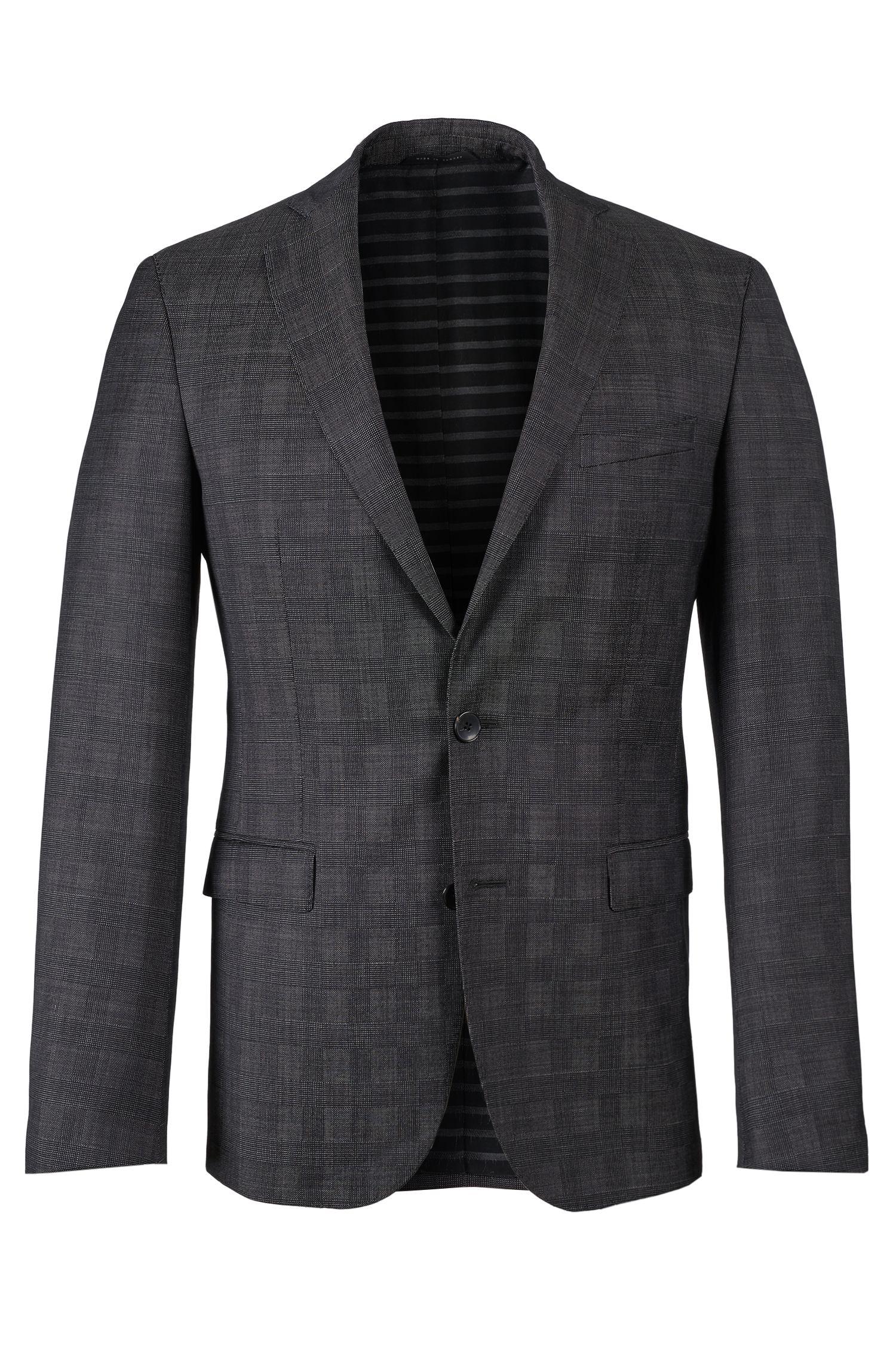 Virgin Wool Sport Coat, Extra Slim Fit | Ross, Open Grey